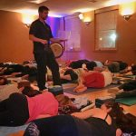 restorative yoga at samadhi yoga in manchester with The Conduit Sound meditation musicians