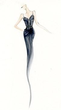 dkny blue corset look