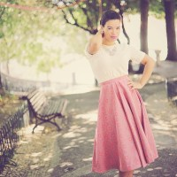 My H&M Look: The Midi 1950's Skirt!