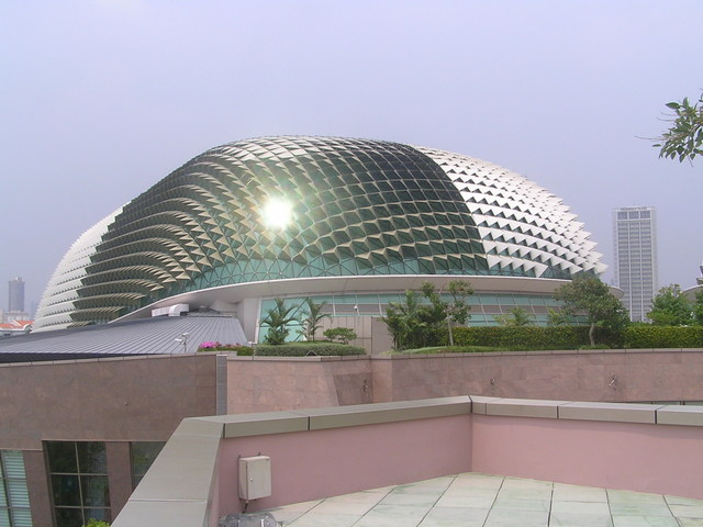 One of the spiky domes of the Esplanade Theatres - known locally as The Durian