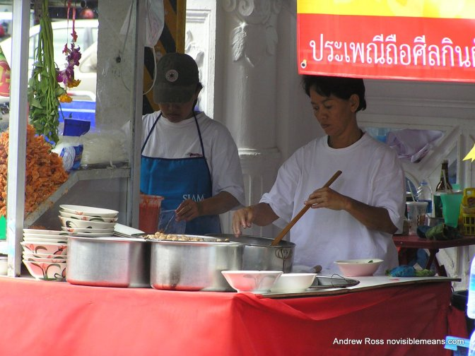 A food stall at Phuket Town's Vegetarian Festival