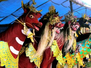 One village's contributions for the forthcoming cremation ceremony in Ubud