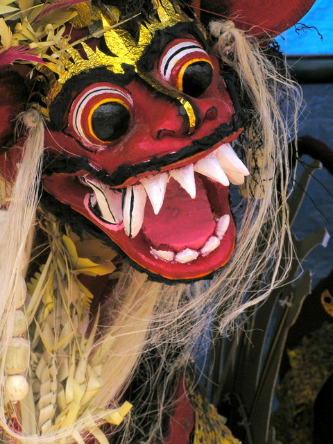 An effigy  for the forthcoming cremation ceremony in Ubud