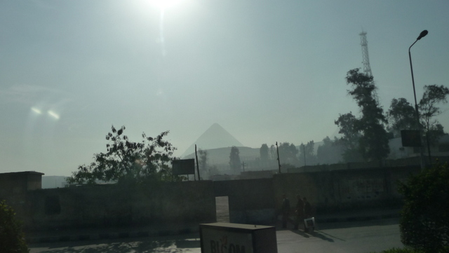My first glimpse of a Giza pyramid