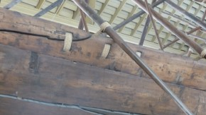 The solar barque was entirely held together with rope