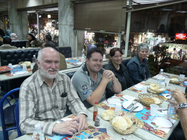 Chris, David, Anita and Judy at GAD on our last night in Cairo