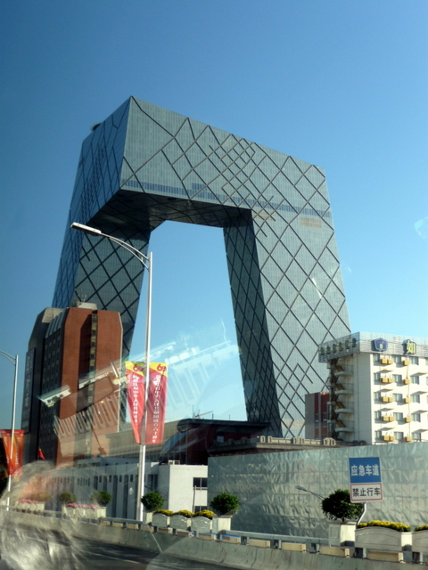 Rem Koolhaus' extraordinary China Central Television building – apparently known by locals as the 'big shorts' for its distinctive shape