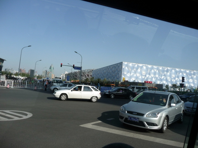 The Water Cube, Beijing (from our bus as we passed!)