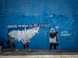 Street art has become a feature of George Town, Penang