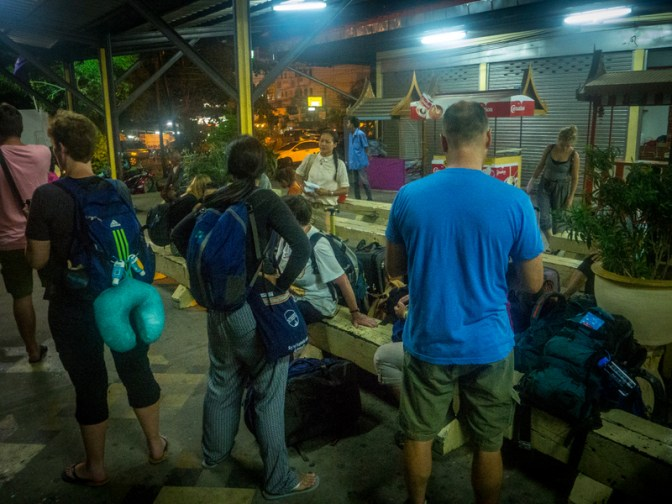 Waiting for the sleeper train from Ayutthaya to Chiang Mai