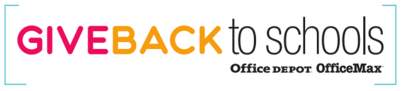 give back to schools logo