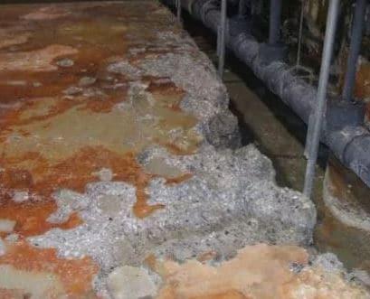 Acid attack on Concrete Floor