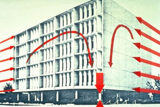 Development of Great Inertia Forces in the Six Storey of Imperial County Services Building