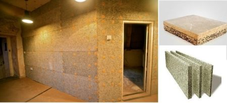 Wood-wool partition wall