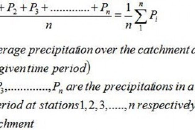 Mean Precipitation Calculation Over an Area