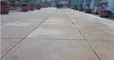 Pavement with steel fibre reinforced concrete