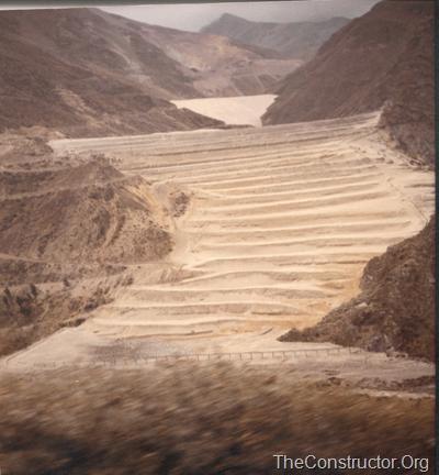 Tailings Dam, River Rimac, Peru