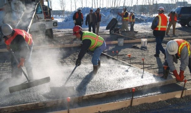 Concrete Pouring in Cold Weather