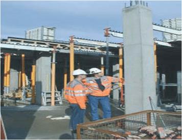 Green Concrete Columns