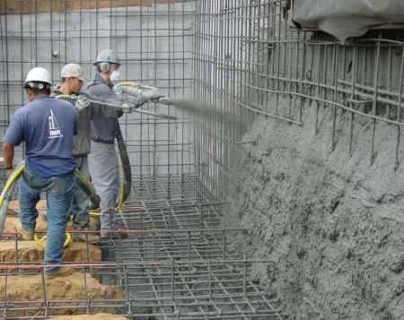 Sprayed Concrete with VMA