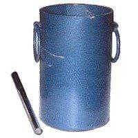 Cylindrical Measuring jar for determination of bulk density of concrete.