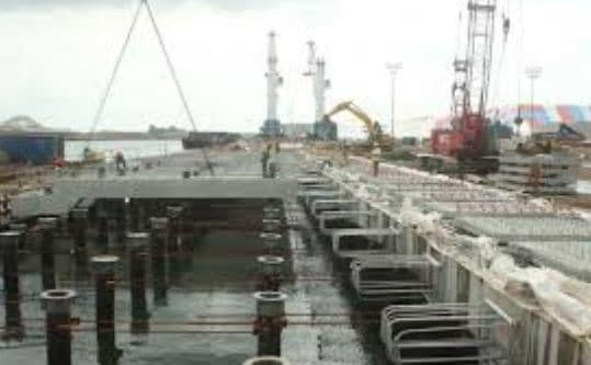 Construction of Wharf using Reinforced Concrete