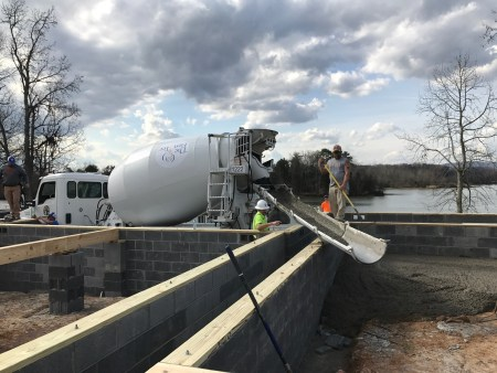 Ready Mix Concrete Placed from a RMC Truck