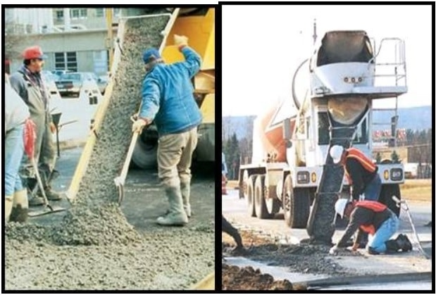 Placing of Ready Mixed Concrete