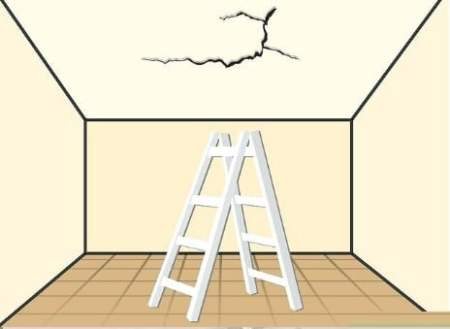 Setting up scaffolding or ladder