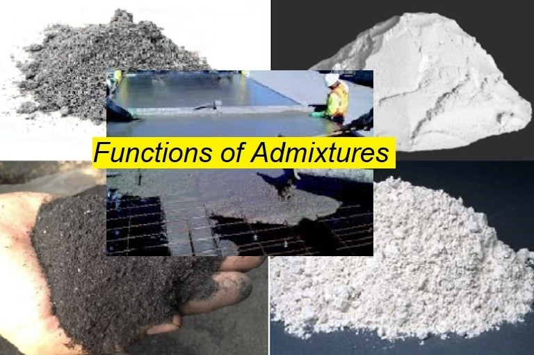Functions of Admixtures in Fresh and Hardened State of Concrete