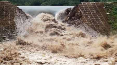 Over-topping of Dam