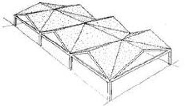 Faceted folded plate structure