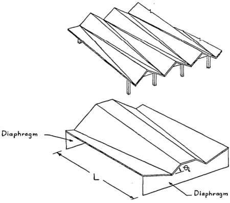 Non-prismatic folded plate