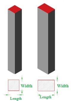 Column dimensions