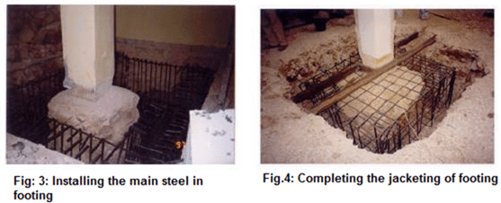 Strengthening of footing by jacketing