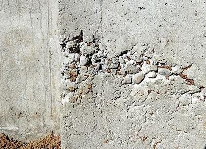 Honey Combed Hardened Concrete