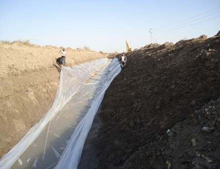 Plastic Canal Lining