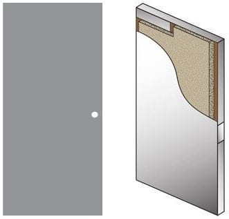 Metal covered plywood door