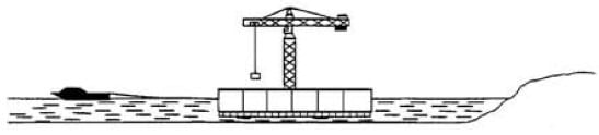 Tow Out Platform to Deeper Water Construction Site