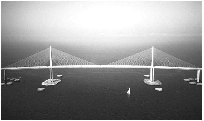 Elliptical Pier Shape of Prestressed Concrete Bridge