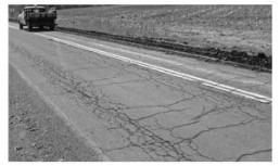 Fatigue Crack formed in Bitumen pavement