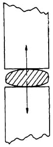 Pillow Shaped Mortar Created Due to Movement of Bricks After Laying