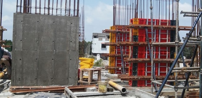 Use of Nova Plastic Form in Construction of Concrete Walls