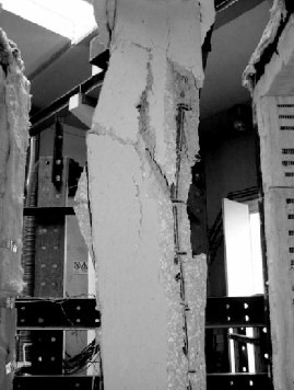 Explosive Spalling of Concrete Followed by Buckling