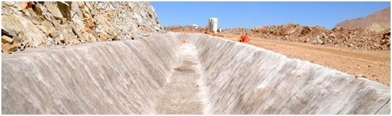 Applications of Concrete Cloth in Ditching