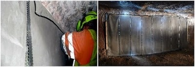 Mining Applications of Concrete Cloth
