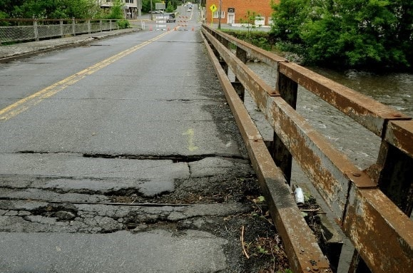 Tatamy Bridge Deck is Heavily Deteriorated