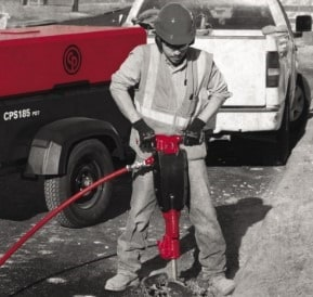 Pneumatic Hammer for Removal of Damaged Concrete