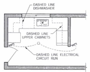 Dashed Lines in Architectural Drawings