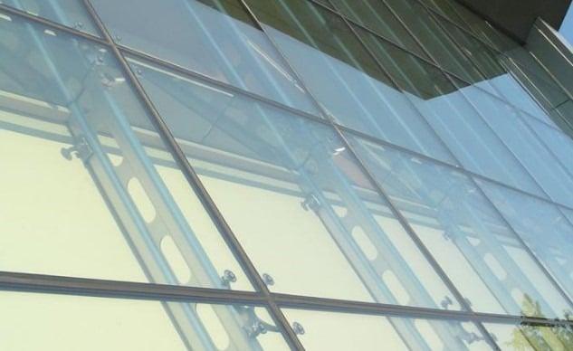 Countersunk Glass Bolt Support -Curtan Wall Design